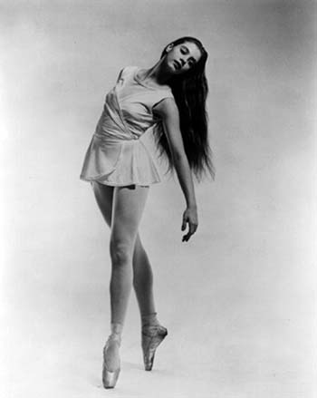 Young dancer Suzanne Farrell